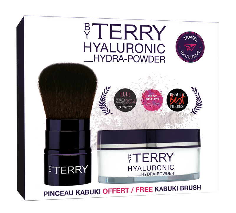 By Terry Hyaluronic Hydra Powder 10g Set with Kabuki brush
