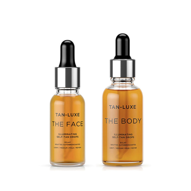 Tan Luxe The Face 20ml & The Body 30ml Light/Medium (Duo Pack)