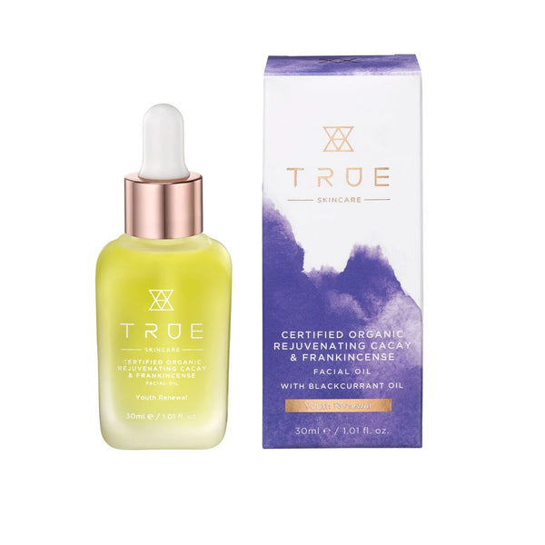 True Skincare Certified Organic Rejuvenating Cacay & Frankincense Facial Oil 30ml
