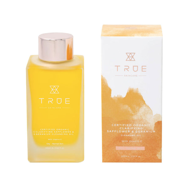 True Skincare Certified Organic Clarifying Safflower & Geranium Cleansing Oil 100ml