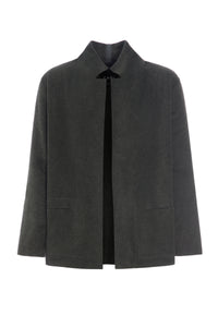 CARDIGAN WITH COLLAR AND POCKETS - 1001C - FORREST