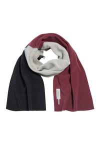 NO WASTE SCARF - 4063 - WINE/SAND/SOFT BLACK