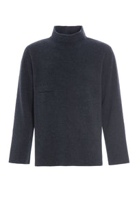 Sweater with high neck - 1003 - DEEP BLUE