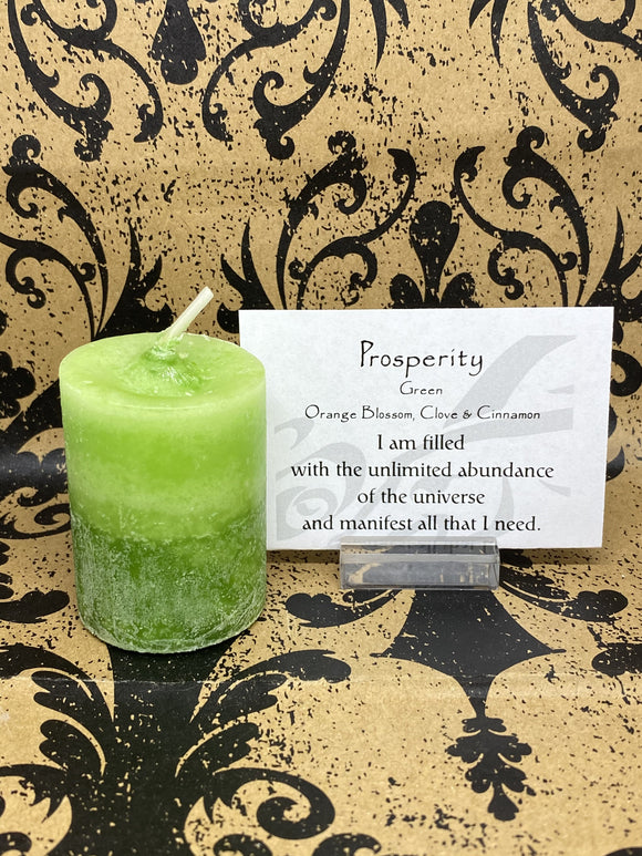 Blessed Herbal Power Votive - Prosperity