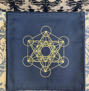 Crystal Grid Fabric Metatrons Cube