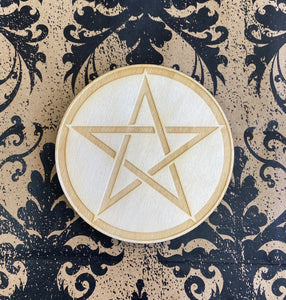 Crystal Grid Wooden Pentacle Small