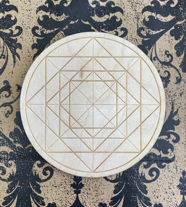 Crystal Grid Wooden Rhombus Square