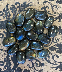 Labradorite Button
