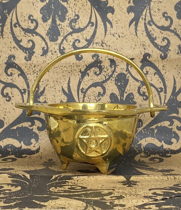 Brass Cauldron with Pentacle