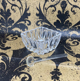 Cut Glass Incense Bowl With Spoon