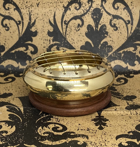 Screen Incense Burner Small Brass