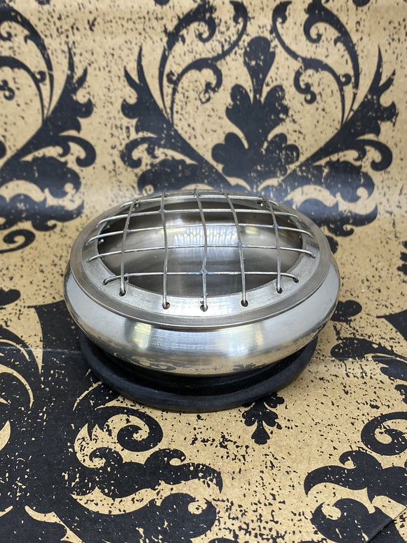 Screen Incense Burner Small Pewter