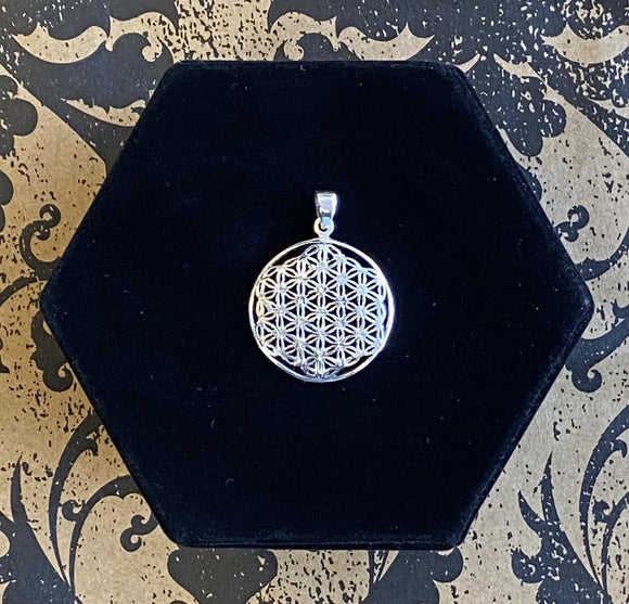 Pendant Sterling Silver Flower of Life