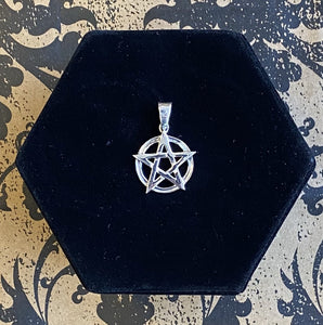 Pendant Sterling Silver Interwoven Pentacle