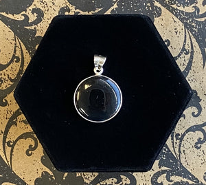 Pendant Sterling Silver Onyx Round