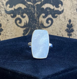 Ring Sterling Silver Mother of Pearl Barrel