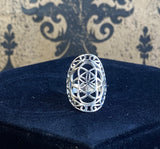 Ring Sterling Silver Seed of Life