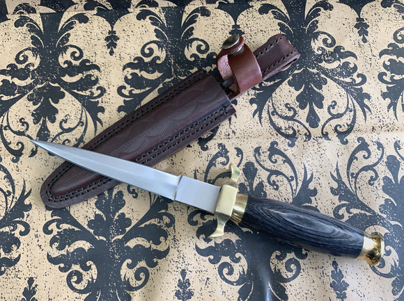 Athame Round Wood With Brass Accents