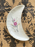 Crescent Moon Plate Small Single Rose