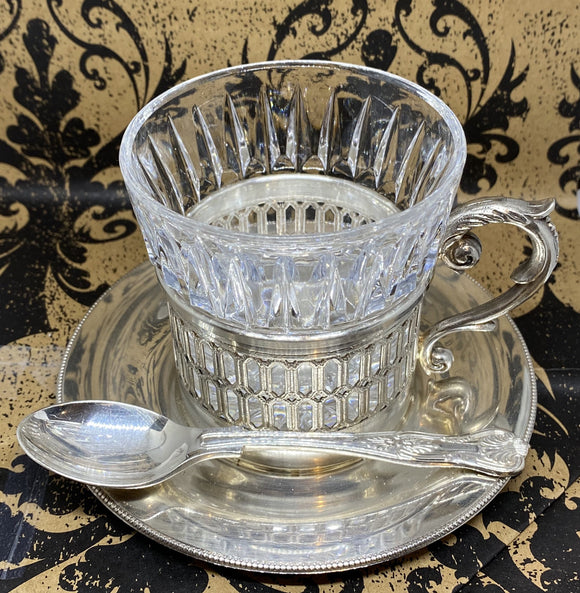 Silver Tea Cup with Spoon