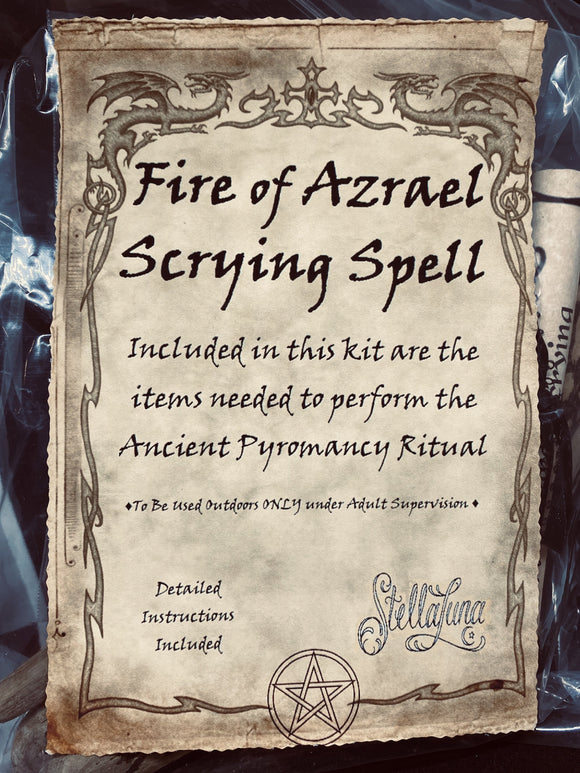 Fire of Azrael Scrying Spell Kit