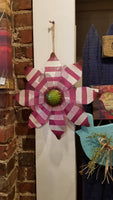 Bright Metal Flower with Jute hanger
