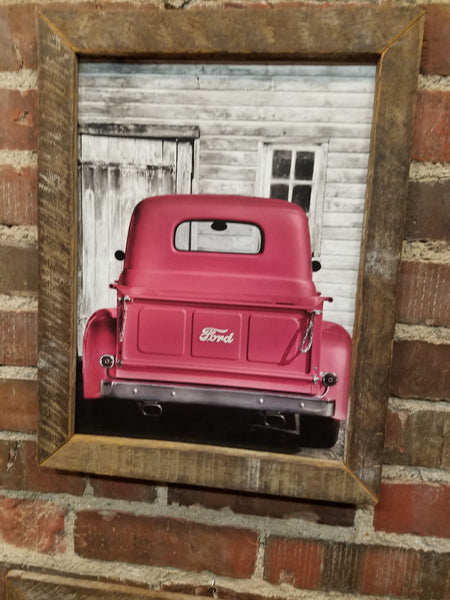 Old Red Truck picture, sign