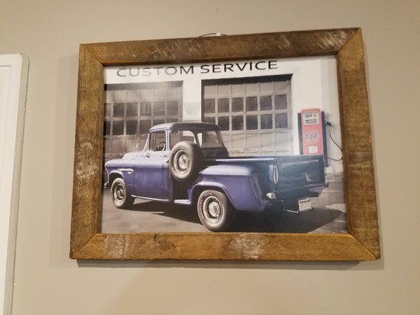 Old Blue Truck picture, sign