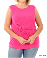 Plus Size Sleeveless Knit Top