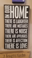 "Inspirational Sign ""In Our Home"" ""10'x17"""