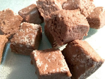 homemade chocolate coconut protein bars