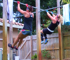 Danielle and Shawn doing the Murph workout with HandBand Pro® grips in 2015