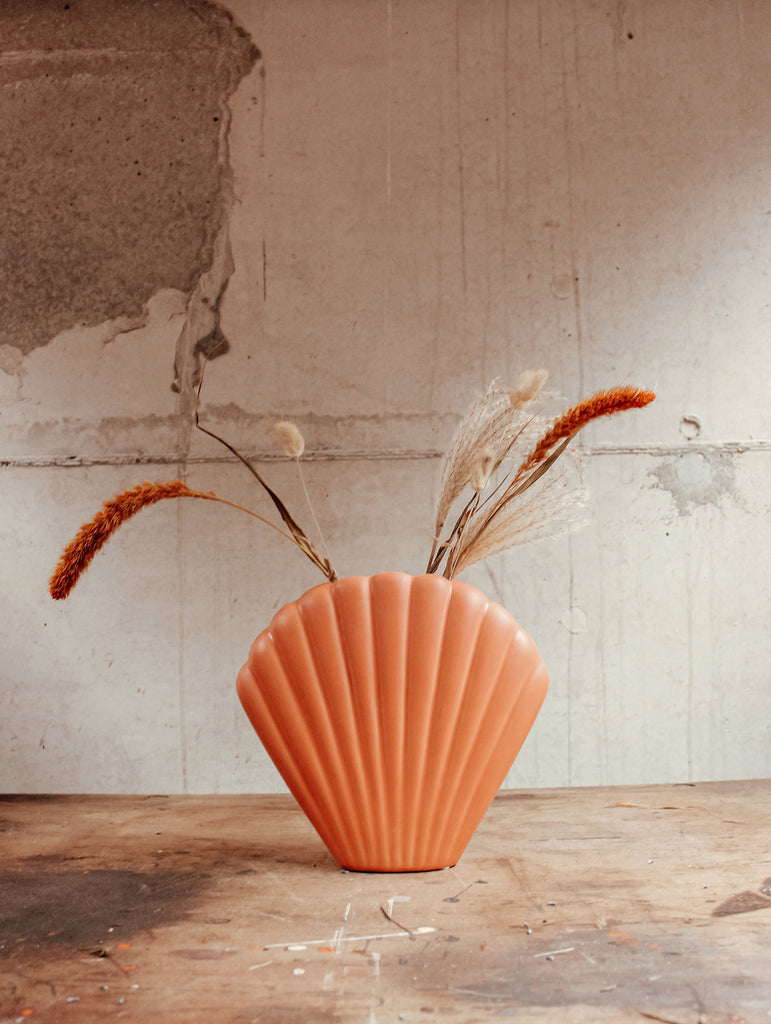 Vaas schelp - Terracotta - Keramiek - Flowers to stay