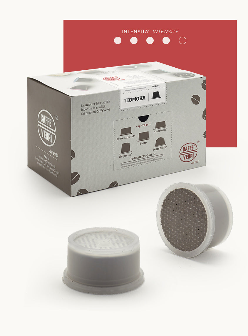 Tiomoka Blend coffee capsules - compatible with Lavazza Espresso Point