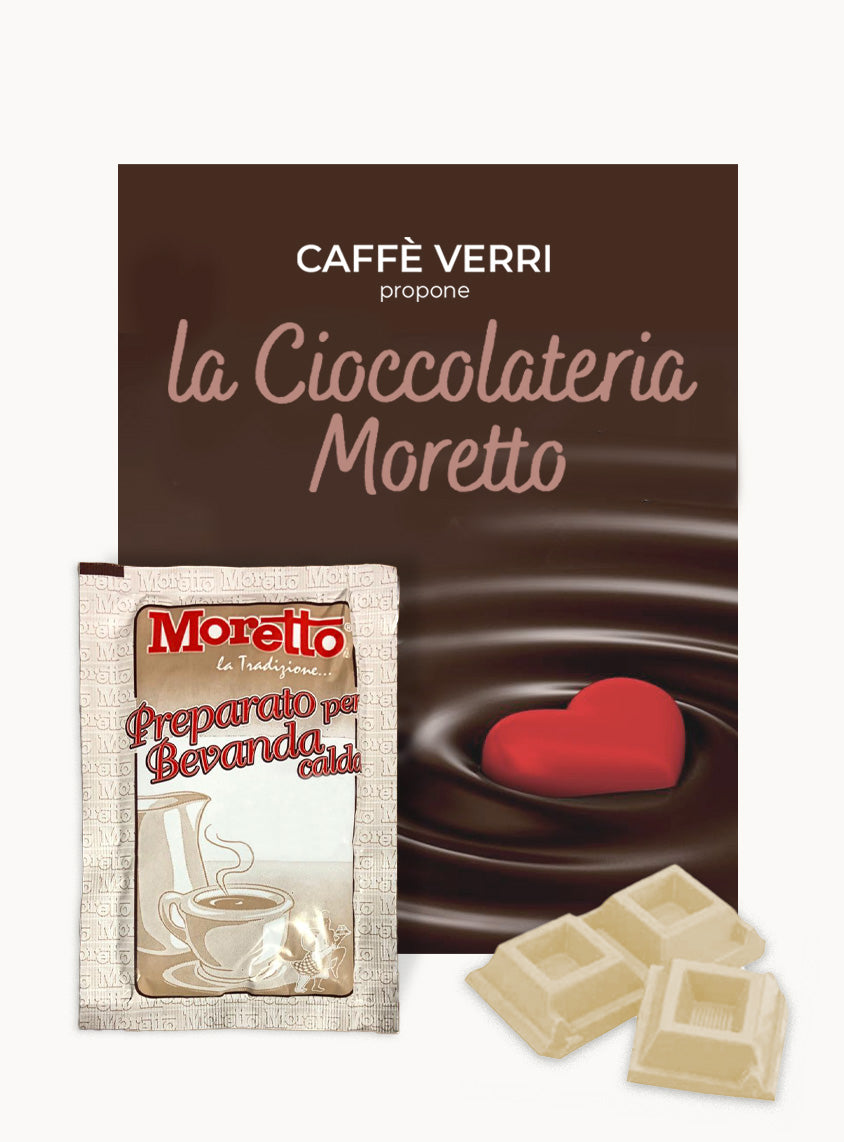 Moretto WHITE Hot Chocolate  - Box with 12 bags