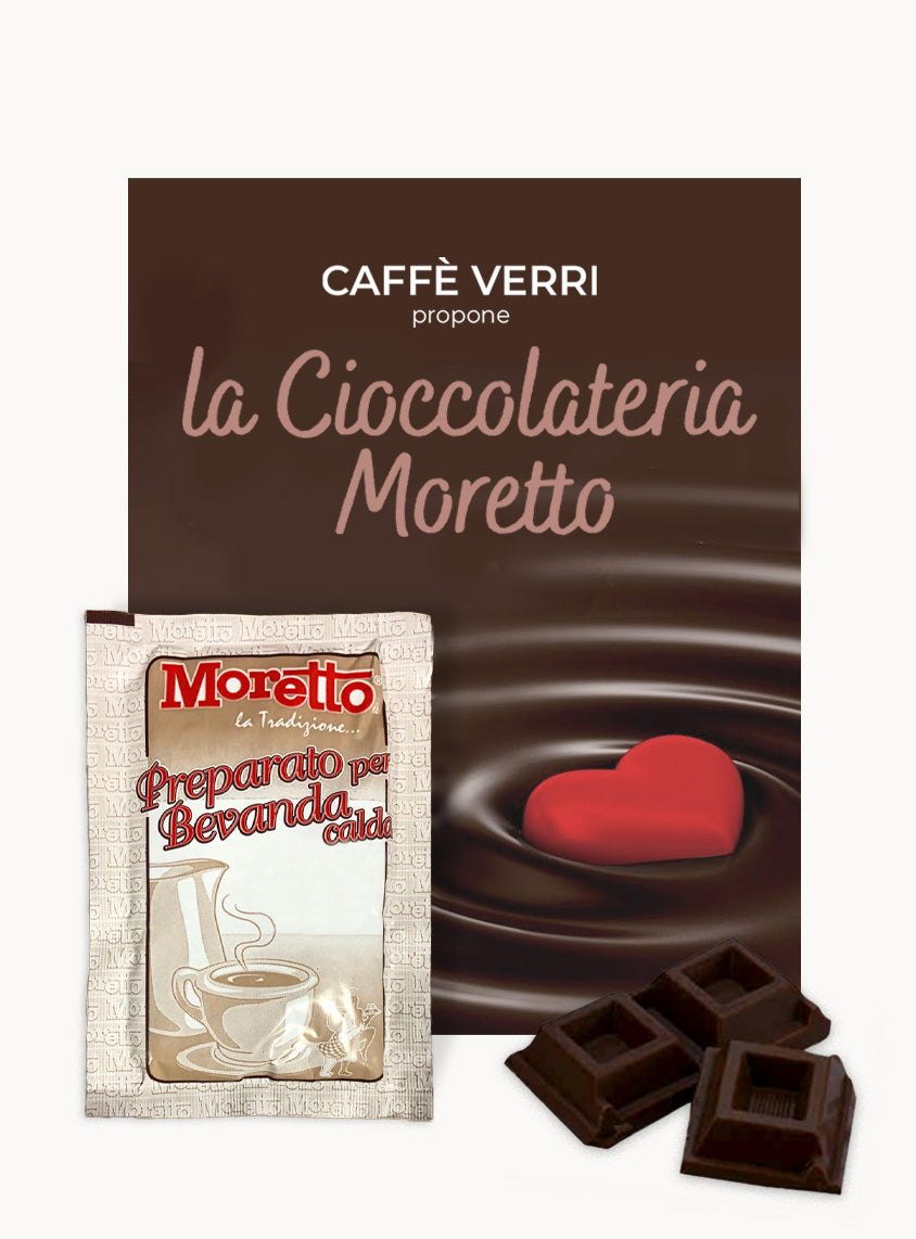Moretto Hot Chocolate DARK - Box with 12 bags