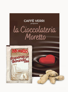 Moretto Hot Chocolate flavoured with GINGER - Box with 12 bags