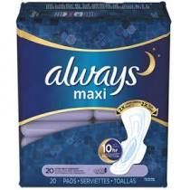 Always Maxi Pads Extra Heavy Overnight 20ct