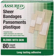 Assured Sheer Bandages Assorted Sizes 80ct