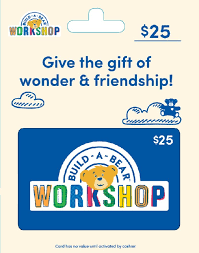Build A Bear $25 gift card