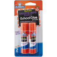 Elmer's Washable Disappearing Purple School Glue Sticks 2ct