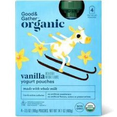 Good & Gather Organic Vanilla Kids' Yogurt Pouches - 4pk/3.5oz