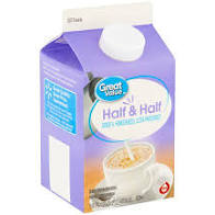 Great Value Half & Half 16oz