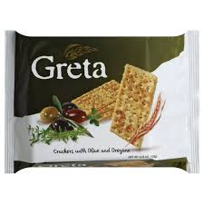 Greta Crackers with Olive and Oregano  4.23oz