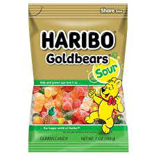 Haribo Sour Gold-Bears Candy 7oz