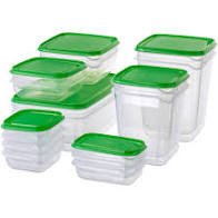 IKEA Pruta Food Storage Containers 17ct Mixed
