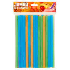 Jumbo Straws in Assorted Colors 30ct