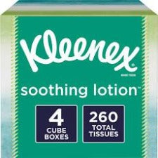 Kleenex Soothing Lotion Tissues 4 ct. 65 Per Box