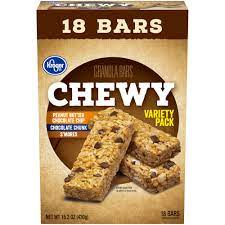 Kroger Granola Bars Chewy Variety Pack 18ct