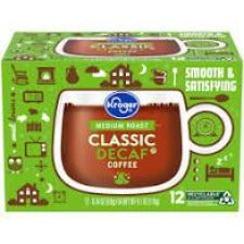 Kroger Medium Roast Classic Decaf Coffee K-Cup Pods 48ct